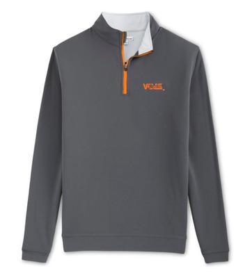 Tennessee Peter Millar Volstar Perth Stretch 1/4 Zip - Orange Zipper