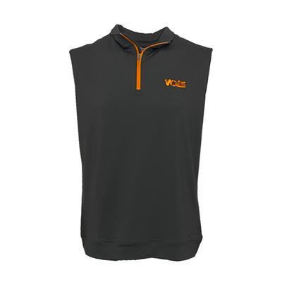 Tennessee Peter Millar Volstar Galway 1/4 Zip Vest - Orange Zipper