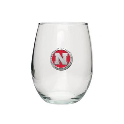 Nebraska Heritage Pewter Red Emblem Stemless Goblet
