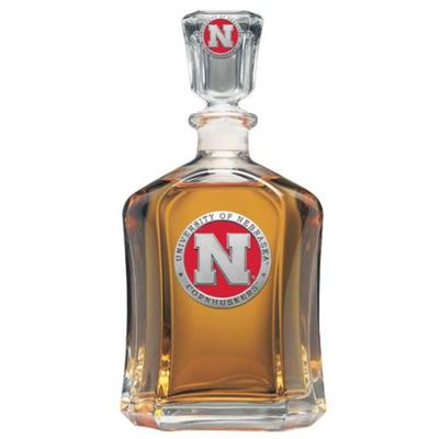 Nebraska Heritage Pewter Red Emblem Capitol Decanter