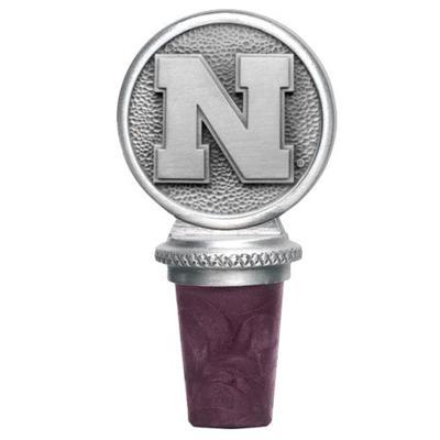 Nebraska Heritage Pewter Bottle Stopper