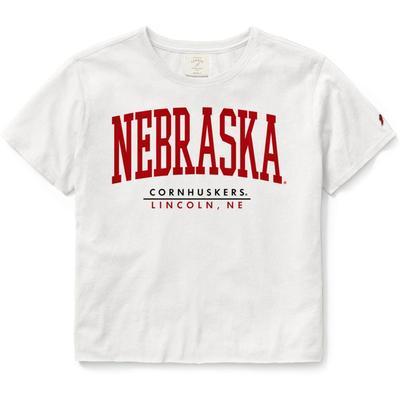 Nebraska League Clothesline Super Arch Crop Tee