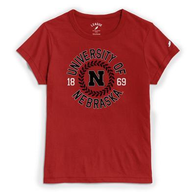 Nebraska League Re-spin Laurel Circle Tee