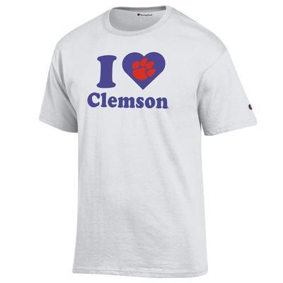 Clemson Champion Women's I Love Clemson Tee