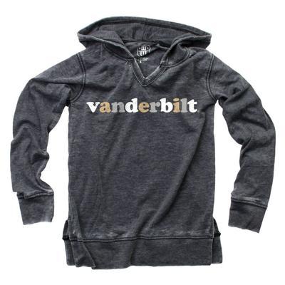 Vanderbilt Kids Burn Out Long Sleeve Hoodie