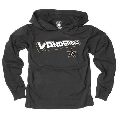 Vanderbilt Kids Angled Long Sleeve Hooded Tee
