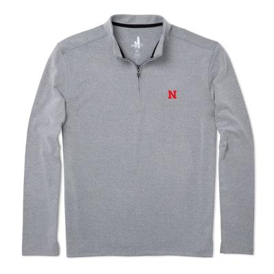 Nebraska Johnnie-O Brady Fleece 1/4 Zip Pullover