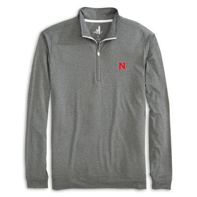 Nebraska Johnnie-O Flex 1/4 Zip Pullover