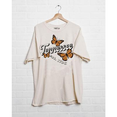 Tennessee Butterfly Off White Thrifted Tee