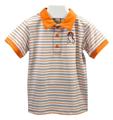 Striped Puppy Dog Toddler Polo Shirt