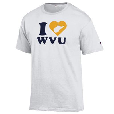West Virginia Champion Women's I Love WVU Tee