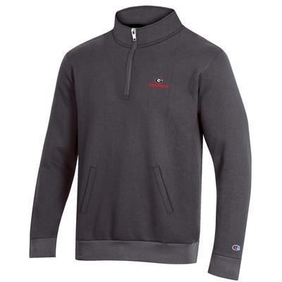 Georgia Champion Men's Fleece 1/4 Zip Pullover