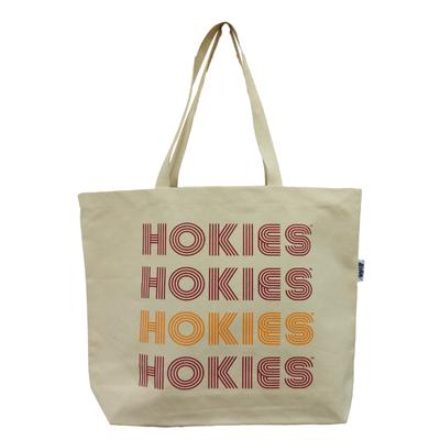 Virginia Tech Canvas Retro Tote Bag