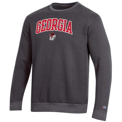 Georgia Champion Men's Arch Crew Fleece Sweatshirt
