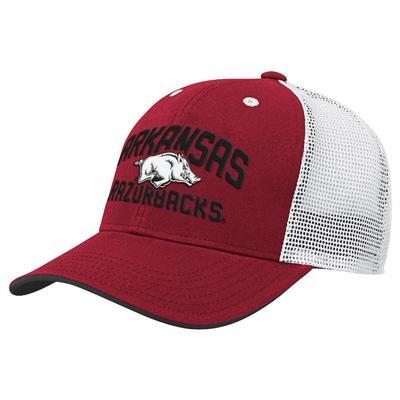 Arkansas Gen2 YOUTH Arch Logo Trucker Hat