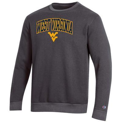 West Virginia Champion Men's Arch Crew Fleece Sweatshirt