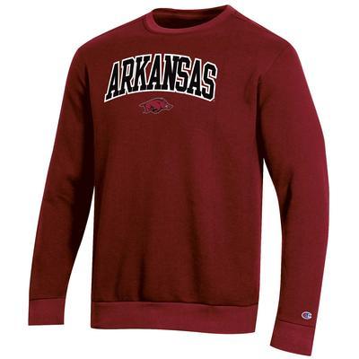 Arkansas Champion Men's Arch Crew Fleece Sweatshirt