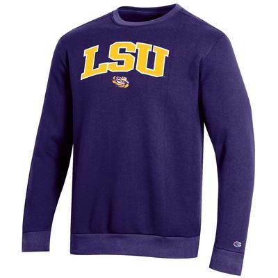 LSU Champion Men's Arch Crew Fleece Sweatshirt