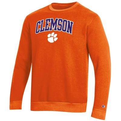 Clemson Champion Men's Arch Crew Fleece Sweatshirt