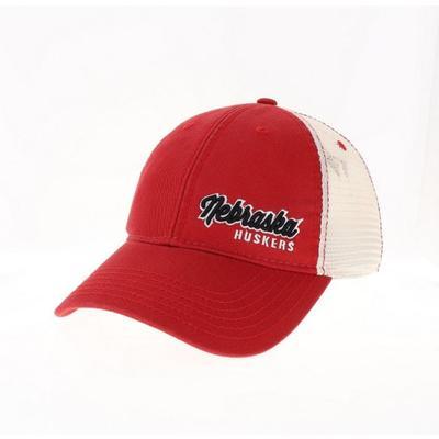 Nebraska Legacy Women's Script Left Hit Trucker Hat