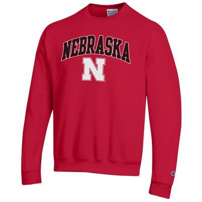 Nebraska Champion Arch Logo Fleece Sweatshirt
