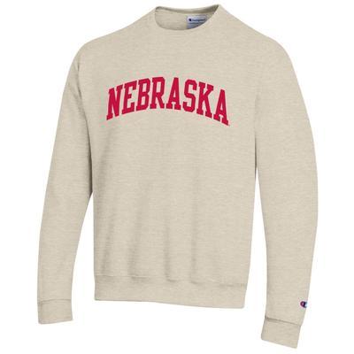 Nebraska Champion Oatmeal Arch Fleece Sweatshirt