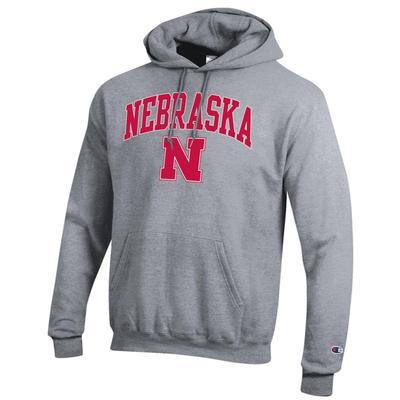 Nebraska Champion Arch Logo Fleece Hoodie