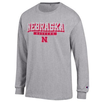 Nebraska Champion Straight Stack Long Sleeve Shirt