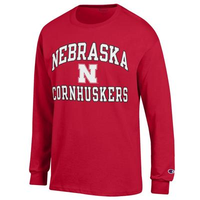 Nebraska Champion Arch Logo Long Sleeve Shirt