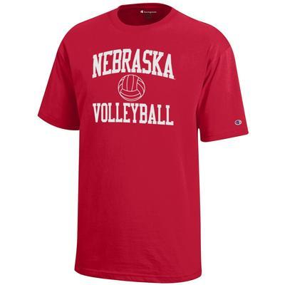 Nebraska Champion YOUTH Basic Volleyball Tee