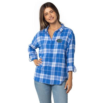 Florida University Girls Women's Boyfriend Plaid Shirt