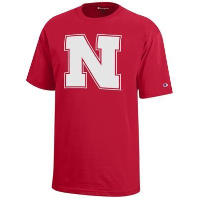 Nebraska Champion YOUTH Giant Block N Logo