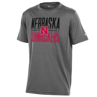 Nebraska Champion YOUTH Athletic Tee