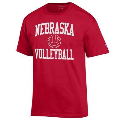 Nebraska Champion Basic Volleyball Tee