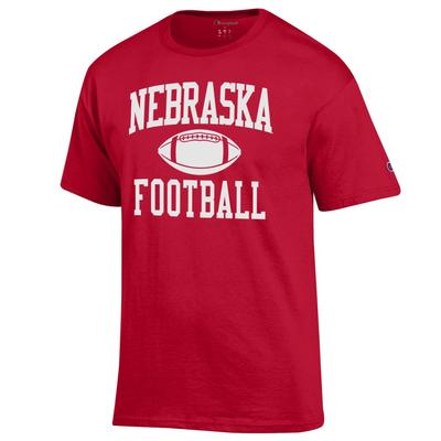 Nebraska Champion Basic Football Tee