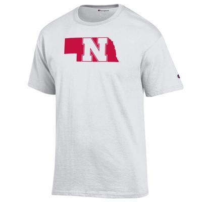 Nebraska Champion Logo State Tee