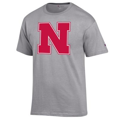 Nebraska Champion Giant Block N Logo Tee