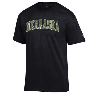 Nebraska Champion Camo Arch Tee