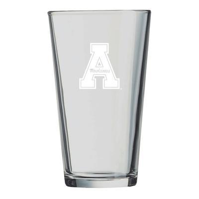 Appalachian State LXG 16 oz Etch Pint Glass