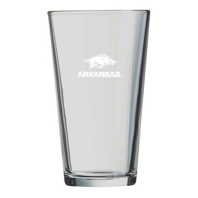 Arkansas LXG 16 oz Etch Pint Glass