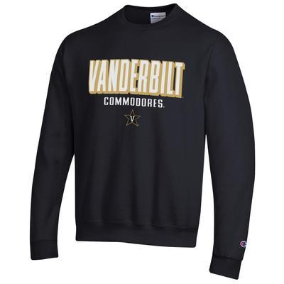 Vanderbilt Champion Straight Stack Sweatshirt