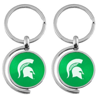 Michigan State LXG Spinner Keychain