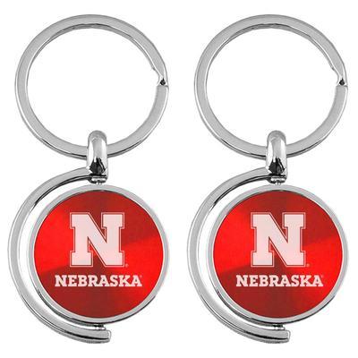 Nebraska LXG Spinner Keychain