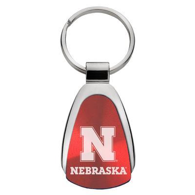 Nebraska LXG Teardrop Keychain