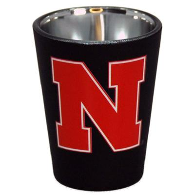 Nebraska 2 oz N Logo Matte Shot Glass