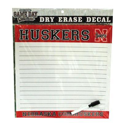 Nebraska Dry Erase Decal