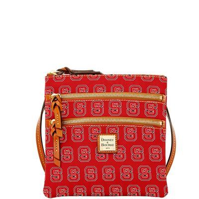 NC State Dooney & Bourke Triple Zip Crossbody Bag