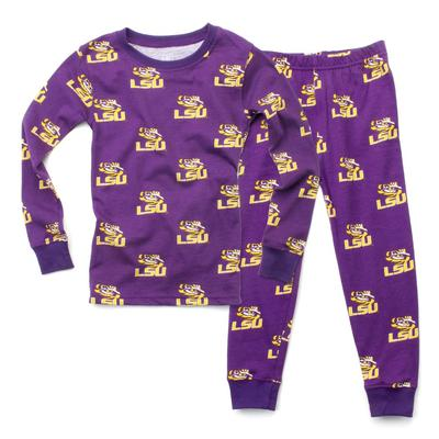 LSU Wes and Willy Toddler PJ Set