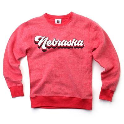 Nebraska YOUTH Reverse Fleece Long Sleeve Pullover
