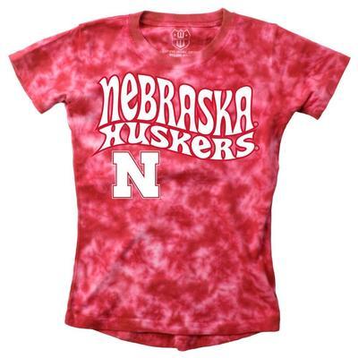 Nebraska YOUTH Tie Dye Retro Hippie Short Sleeve Tee